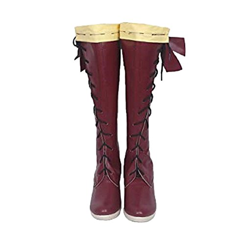 Violet Shoes Women PU Leather High Heel Boots Halloween Cosplay Clothing Accessories for Adult Fancy Dress