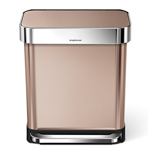 30 Gallon Kitchen Trash Can: Simplehuman 30 Liter/8 Gallon Stainless Steel Rectangular