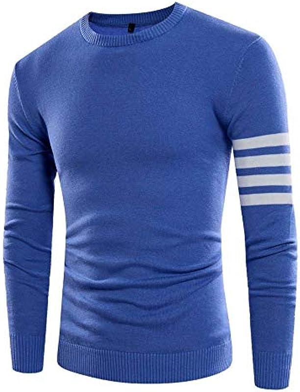 Męski sweter sweter jesień dzianie Fashion długi rękaw rozcięcie elegancki sweter paski Slim Fit sweter dziergany: Odzież