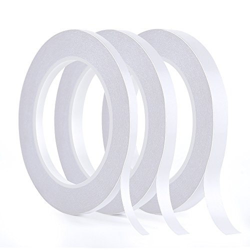 Kuuqa 3 Rolls Double Sided Tape Set Strong Sticky Tape for Office DIY...