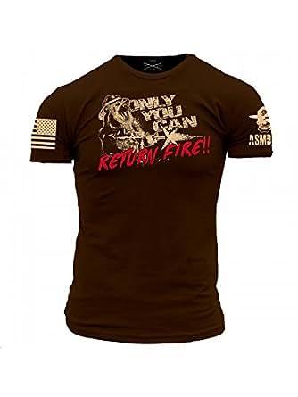 Amazon.com: Grunt Style ASMDSS Return Fire Men's T-Shirt