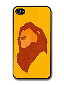 The Lion King Minimalist Mufasa Illustration case for iPhone 4 4S