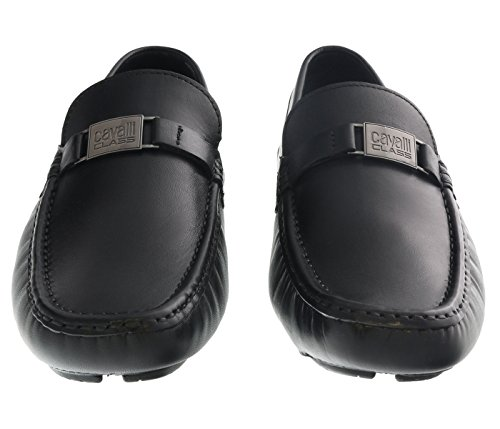 Roberto Cavalli Black Leather - Roberto Cavalli Black Loafers Man Leather Shoes for Mens