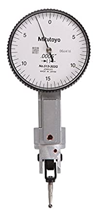 Vertical Type +//-0.01mm Accuracy Brown /& Sharpe TESA 74.111958 Interapid 312 Dial Test Indicator 0-0.06 Range 0-15-0 Reading M1.7x4 Thread 0.157 Stem Dia. 0.0005 Graduation White Dial 1.5 Dial Dia.
