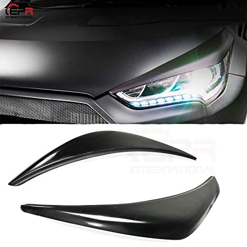 Frp Fibre de verre pour Hyundai Veloster Lordy Power Wide Body Phare /œil Couvercle sourcils Paupi/ères Trim Cover Panel Overlay