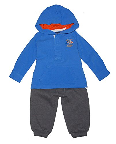 Ralph Lauren Polo Boys Cotton Mesh Rugby Sailing Hoodie & Pants Set (9 Months) (Cotton Mesh Rugby)
