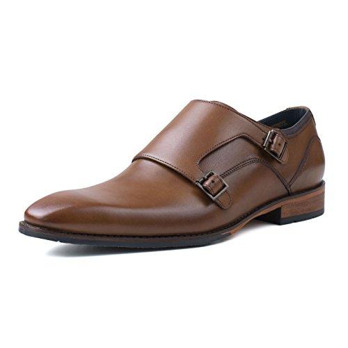 Mens Tan Smith Shoes Monk Kensington Strap Goodwin IPBYff