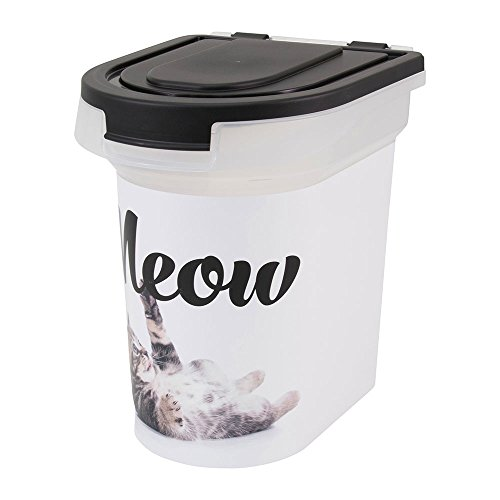 Paw Prints 37910 15 lb. Plastic Pet Food Bin, 12.5
