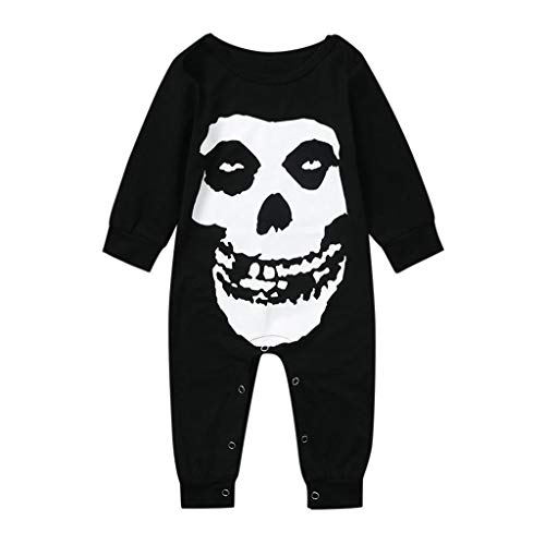 Clever Baby Costumes (Baby Walkers for Boys Kids Halloween Skeleton Costume Clever Halloween Costumes Hallows Eve Jumpsuit)