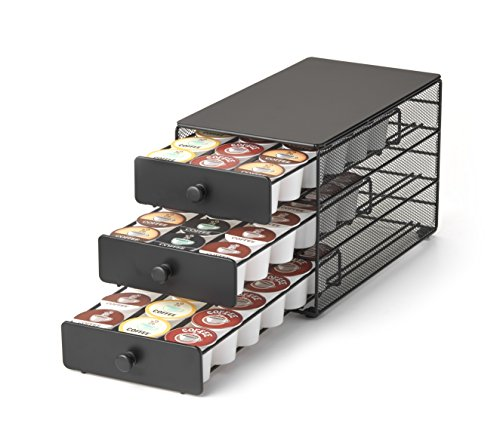 Nifty 3-tier Large Capacity Coffee Pod Storage Drawer for K-Cup Pods. 54 Pod Capacity only 7 inches wide ()