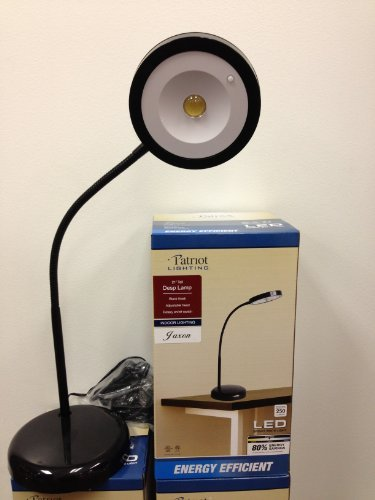 LED Reading Black Desk 21' Tall,Fluorescent light,Bright White Eye-Care LED Desk Outlet Lamp, Clamp Light,5W,Flexible Gooseneck, Simple Switch Control 21' Tall Lamp