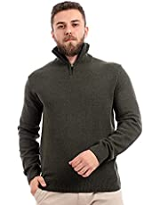 Andora-Half Zipper Long Sleeve Knitted Sweater