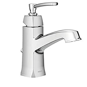 bathroom sink faucets amazon moen ws84923 one handle high arc bathroom faucet chrome 16499