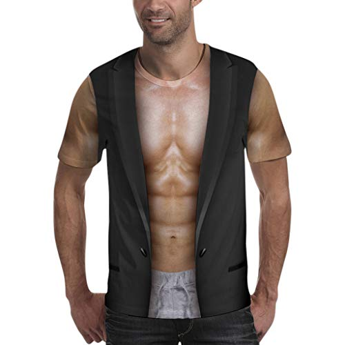 (Men Shirts Clearance ! Easytoy Funny Halloween Party Costume Sexy Shirtless Man Costume Unisex)