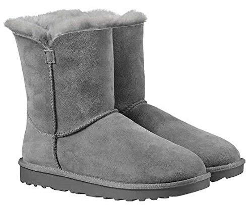 Kirkland Signature Ladies Genuine Sheepskin - Shearling Lining - Zipper Boots for Women Grey Size 7