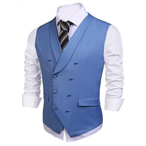 Discount etuoji Mens Suit Vest V-neck Waistcoat Slim Fit Sleeveless Blazer Jacket hot sale