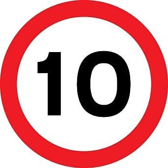 Road Signs - 10 mph - Aluminium