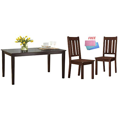 Better Homes and Gardens Bankston Rectangle 6-Person Dining Table, 58.5 L x 35.5 W x 30 H Espresso Espresso
