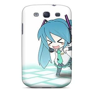 Bumper Hard Cell-phone Case For Samsung Galaxy S3 With Customized High Resolution Hatsune Miku Chibi Anime Girls Detached Sleeves Series JamieBratt