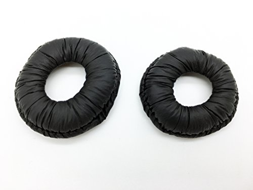 (AvimaBasics 1-Pair Leatherette Ear Cushion Without Plastic Ring Compatible with Plantronics CS50 CS55 CS55H H141 H141N P141 P141N M170 M175 CT12 CT14 S10 T10 T20)