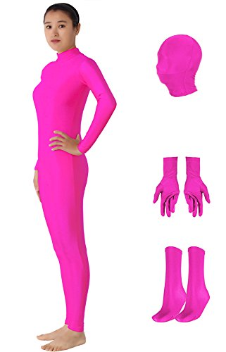 Unitard Costume Ideas (JustinCostume Adults Spandex Detachable Unitard Costume Set Pink S)