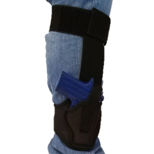 Ankle Nylon Holster By Houston | Fits: Most Small 380, Keltec, Ruger LCP, S&W BG, Taurus TCP, Jimenez J.A, Sig P238, Diamond Back | Concealed and Comfortable to use (68A) (right)