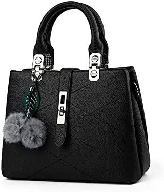 Sweet and Stylish fringed hair ball decorative leisure handbag Messenger bag for women
