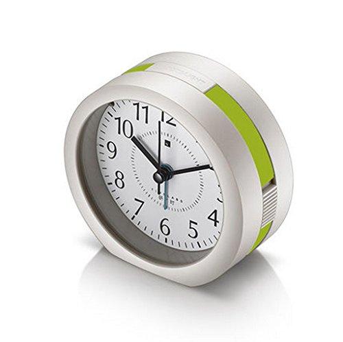 Hyun times Music Creative Alarm Clock Lazy Student Bedside Silence Clock Digital Cute Night Light Fashion Children Small Clock ( Color : Green )