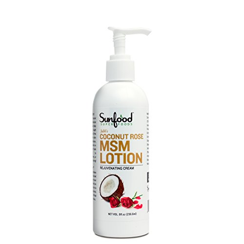 Sunfood MSM Lotion/Cream, Coconut Rose, (Msm Rose)