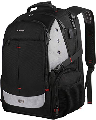 Best Deals! Large Laptop Backpack,TSA Friendly Durable Travel Laptop Backpacks w/ USB Charging Port ...