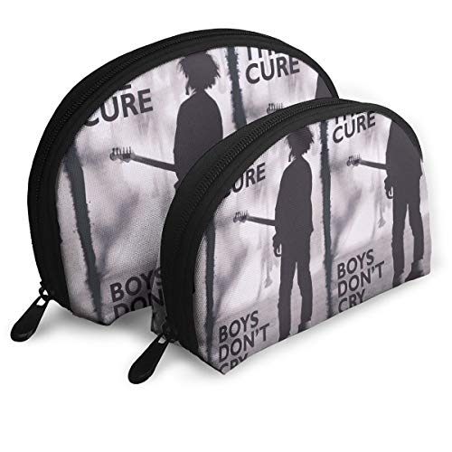 Capa Mr.Luo. The Cure- Boy's Don't Cry Customized Portable Bags Clutch Pouch Storage Bag Cosmetic Bag Purse Travel Storage Bag Shell Shape One Big and One Small for Women