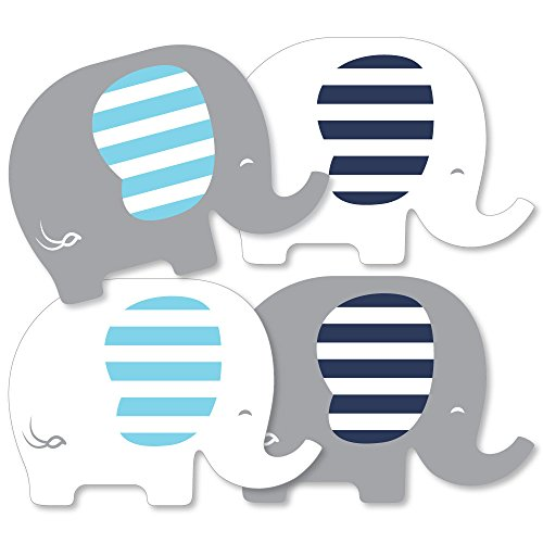 Blue Elephant - Decorations DIY Boy Baby Shower or Birthday Party Essentials - Set of -