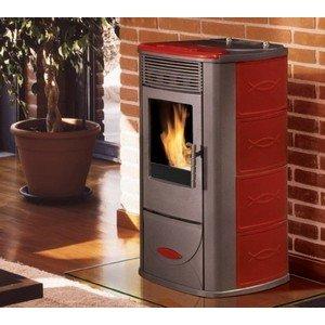 Edilkamin Estufa de Pellets 8 Kw Mariu Italiana chimeneas: Amazon.es: Hogar