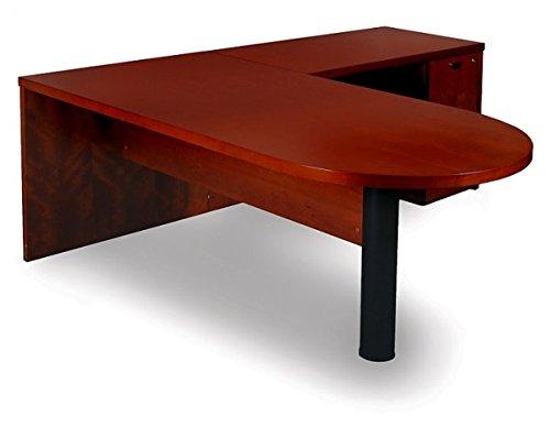 - Mayline L Shaped Desk W/Wood Veneer 72