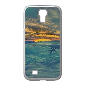 Colkd Mountain Watercolor style Cover Samsung Galaxy S4 I9500 Case (Winter Watercolor style Cover Samsung Galaxy S4 I9500 Case)