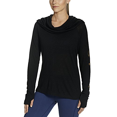 Gaiam Women's Emery Cowl Top, Black, Medium