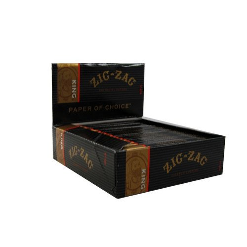 ZIG ZAG Rolling Papers King Size 32 Leaves UNFLAVORED Flavor Pack of 24
