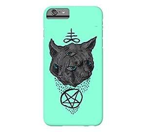 Janus Satan Cat iPhone 6 Plus Aquamarine Barely There Phone Case