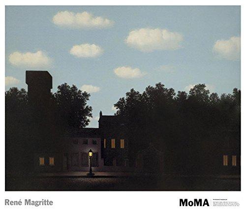Rene Magritte The Empire of Light II, 1950 Art Print Poster - 28x30 Fine Art Poster Print by Rene Magritte, 30x28