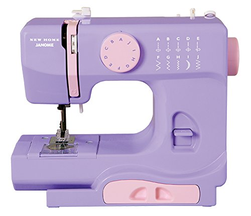 Janome Lady Lilac Basic, Easy-to-Use, 10-Stitch Portable, Compact Sewing Machine with Free Arm only 5 pounds