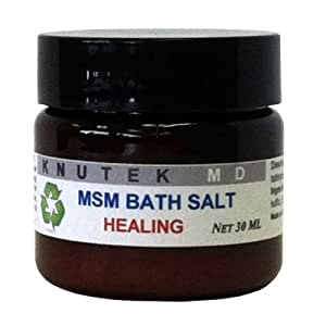 kNutek MSM Organic Sulfur Bath Salt, 1 oz (30 ml)