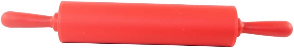Dianoo Rolling Pin - Silicone Food Grade Dough Rolling Pin - 12 Inch Non-stick Dough Rolling Pin - Red