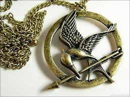 "Treena Bean ""Mockingjay"" Antique Brass Colored Pendant Necklace Inspired by The Hunger Games with 30"" Chain Necklace Fashion Necklace"