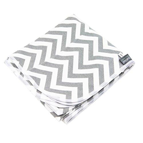 Kushies Receiving Blanket, Chevron Grey
