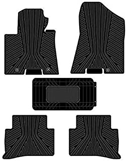 All Weather Protector 4 Piece Set AutoTech Zone Custom Fit Heavy Duty Custom Fit Car Floor Mat for 2010-2015 Hyundai Tucson SUV Black
