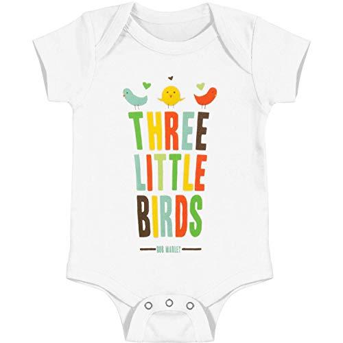 Bob Marley Baby Boys' Bird Hearts Bodysuit 3 - 6 Months White
