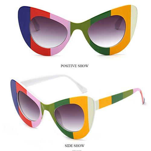 Uv Grand Aux Protection Lunettes Spécial Mode Chat amp;grey Cadre Sunglasses Soleil Femmes Floral Oeil Qualité De Womens Floral Zhhlaixing Des OXqn5IwI7