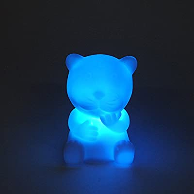 Cute Animal Shaped LED 7-color Changing Night Light ,Woopower Lovely Christmas Light Lamp For Children Bedroom