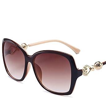 MJ Glasses Gafas de sol Espejo retrovisor de metal en forma ...