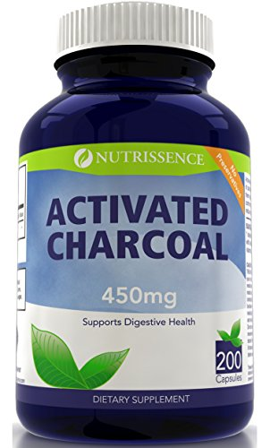 Activated Charcoal 450mg 200 Capsules